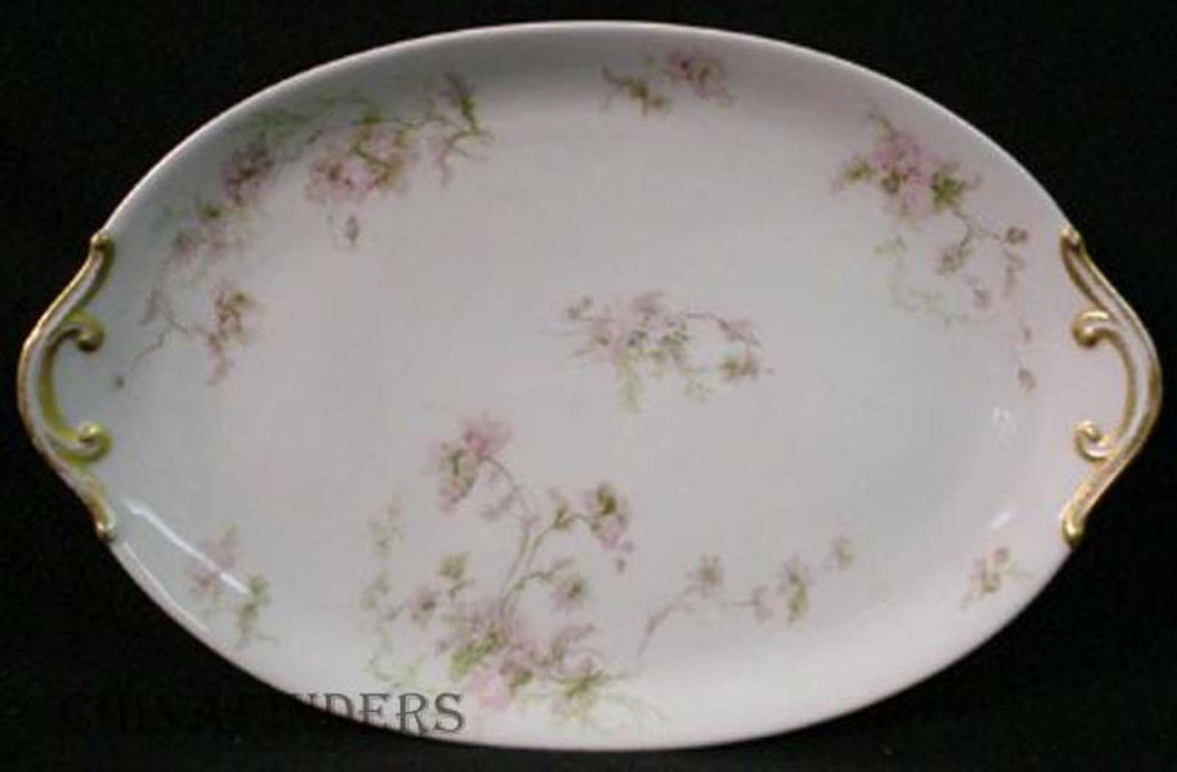 CHARLES FIELD HAVILAND china Sch #377 PINK POPPIES Oval Serving Platter 15-1/4