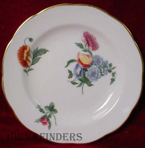 WEDGWOOD china COLONIAL SPRAYS pattern Bread Plate @ 6-1/8""