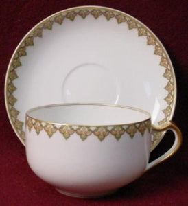 HAVILAND china THE MONACO Schleiger 295 CUP & SAUCER Set