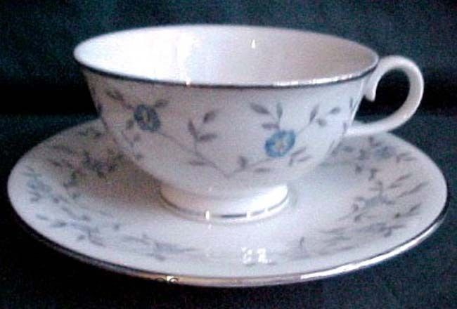 ANCESTRAL china BLUE LACE pattern CUP & SAUCER Set