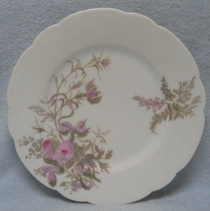 HAVILAND china SCHLEIGER 77 on Blank 114 Pink and GRAY pat SALAD Plate