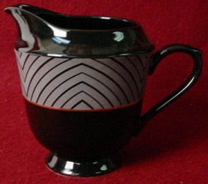 SANGO china BLACK MAGIC 1017 pattern CREAMER Cream Pitcher or JUG