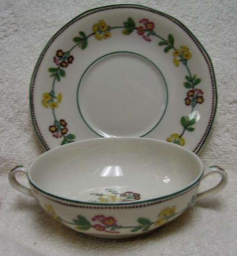 HAVILAND china H812 pattern CREAM SOUP and SAUCER Set