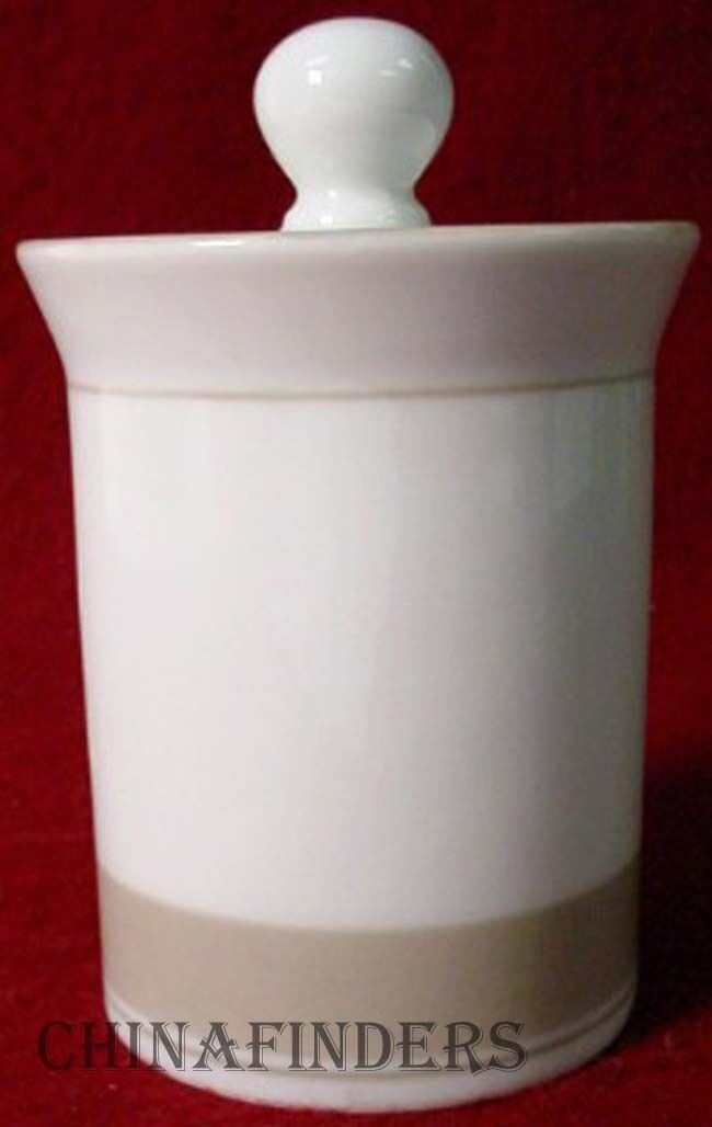 DANSK china ALLEGRO TAUPE pttrn SUGAR BOWL with LID