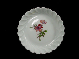 HAVILAND china FLEURS DE SAXE Limoges COASTER Red/Rust 4-3/8""