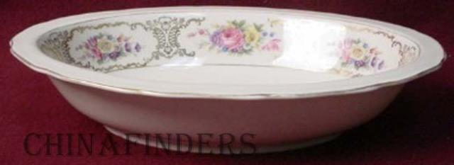 HEINRICH Bavaria china LADY LOUISE pattern # 13833A Oval Vegetable Serving Bowl