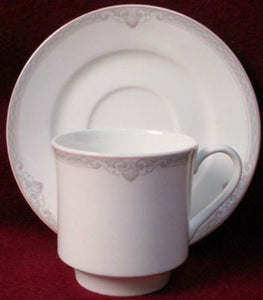 LENOX china HATTERAS 7822 pattern CUP & SAUCER Set - 3""