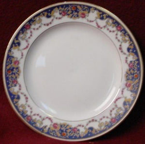 ROYAL BAYREUTH china ROB2 Blue Border pattern BREAD PLATE
