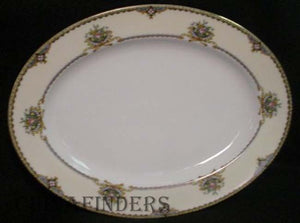NORITAKE china NASHUA pattern OVAL SERVING PLATTER - 11-7/8""
