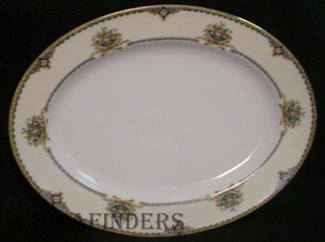 NORITAKE china NASHUA pattern OVAL SERVING PLATTER - 11-7/8