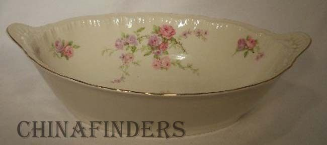 HAVILAND New York china CRINOLINE pattern Oval Vegetable Serving Bowl 10 1/4