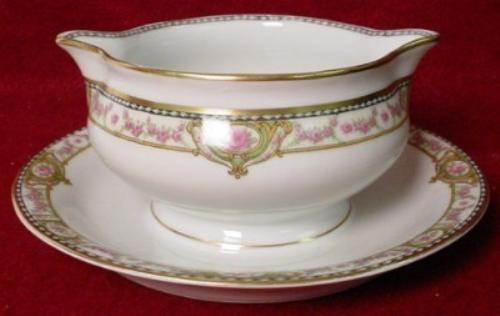 HAVILAND China SCHLEIGER 344D pattern GRAVY BOAT