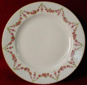 OVINGTON'S china ROSE LAUREL enamel DESSERT PLATE