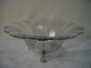 HEISEY crystal ORCHID 5025 pattern 3-Toed FLARED BOWL - 11""