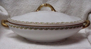 HAVILAND china SONDERBURG pattern OVAL COV. VEGETABLE
