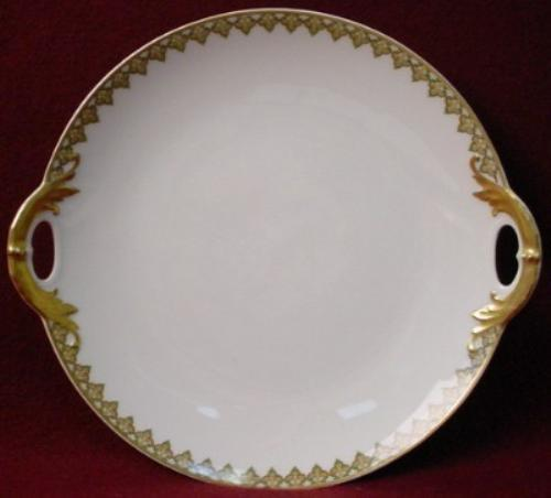 HAVILAND china THE MONACO Schleiger 295 HANDLED CAKE Serving PLATE