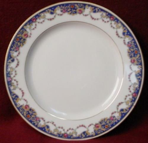 ROYAL BAYREUTH china ROB2 Blue Border pattern SALAD PLATE