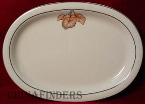 GOEBEL china MORNING GLORY pttrn OVAL MEAT PLATTER