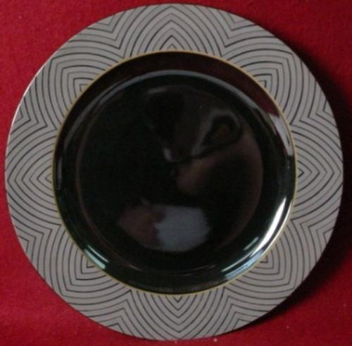 SANGO china BLACK MAGIC 1017 pattern DINNER PLATE - 10-3/4