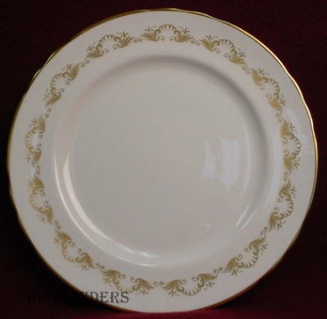 AYNSLEY china LOUIS XV 8328 scallop DINNER PLATE - 10-3/8