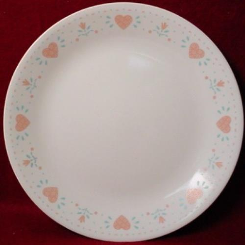 CORNING Corelle FOREVER YOURS pattern DINNER PLATE 10-1/4