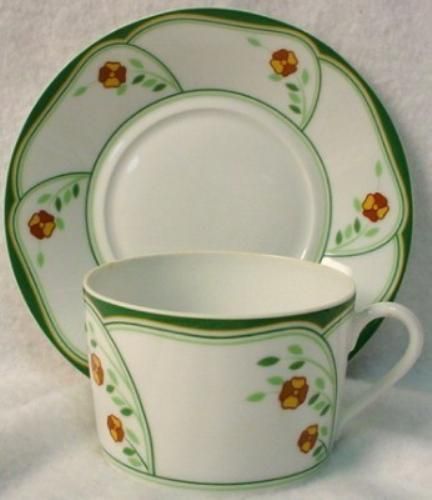 HAVILAND china LOTUS pattern CUP & SAUCER Set