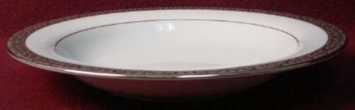 ROYAL GALLERY china PLATINUM BUFFET pattern RIMMED SOUP Salad BOWL