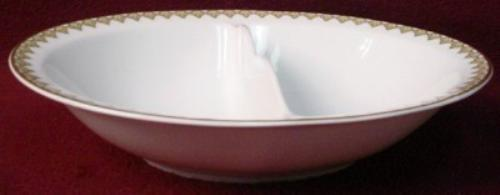 HAVILAND china THE MONACO Schleiger 295 OVAL DIVIDED Vegetable SERVING BOWL