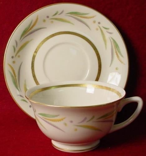ROYAL JACKSON china AUTUMN pttrn CUP & SAUCER Set