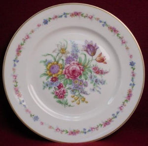 HAVILAND china MONTROSE white SALAD PLATE