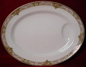 HAVILAND China SCHLEIGER 344D small OVAL MEAT PLATTER