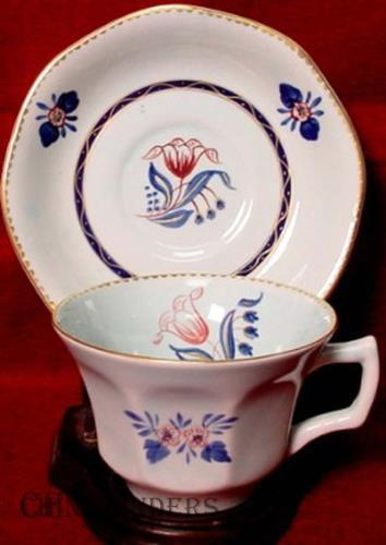 ADAMS china GEORGIAN Cup & Saucer Set inner design 2609 CRAZED