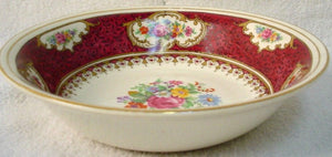 EMPIRE PORCELAIN China MAJESTIC RED pattern FRUIT dessert sauce BERRY BOWL