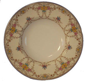 MINTON china WILMINGTON Blue B1367 pattern RIMMED SOUP or SALAD BOWL 8-7/8""