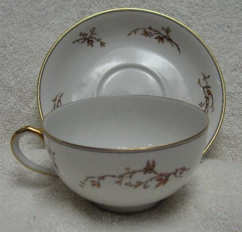 HAVILAND china H327 pattern CUP and SAUCER Set