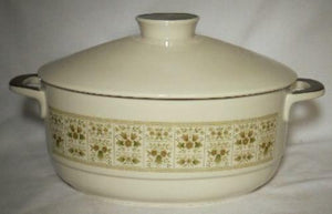ROYAL DOULTON china SAMARRA pattern TC1039 2-Quart Oval Covered Casserole