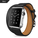FOHUAS Extra Long Genuine Leather Band Double Tour Bracelet - My Apple Watch Band