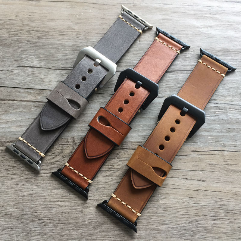 MyAppleWatchBand Panerai Style High Quality Retro Leather Band for Apple Watch - My Apple Watch Band