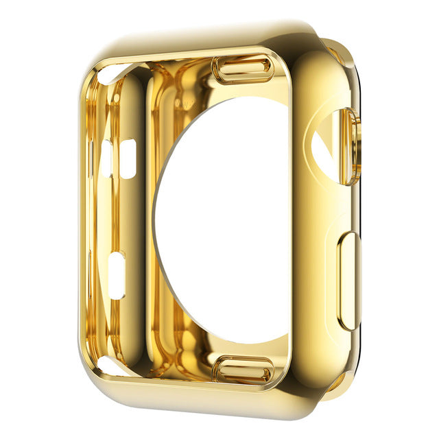 Gold Plating Soft Silicone Case - My Apple Watch Band