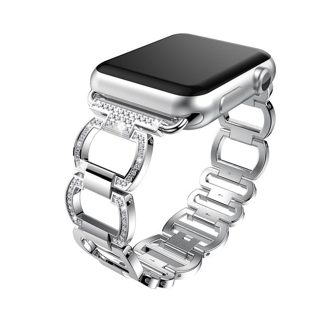 Diamond-Cut Rhinestone Open Chain Band - My Apple Watch Band