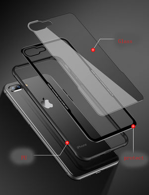Luxury Tempered Glass Case Cover For iPhone - My Apple Watch Band