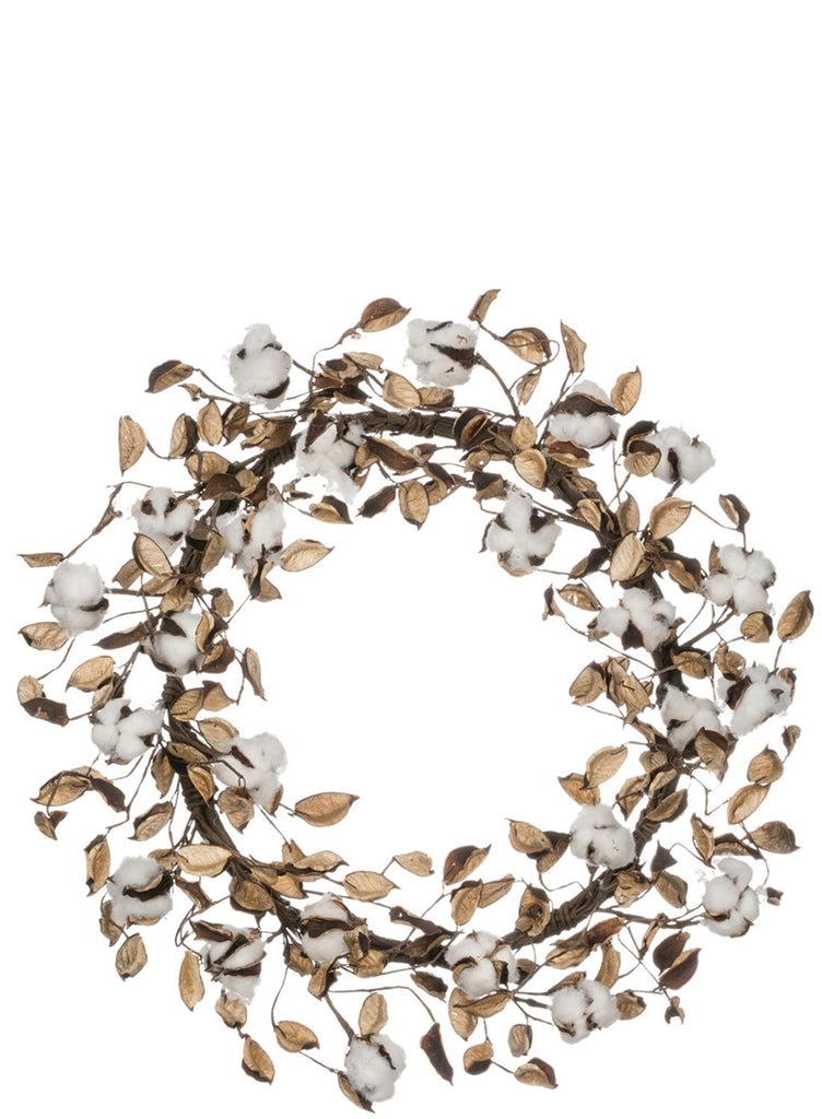 Cotton Wreath with Shells