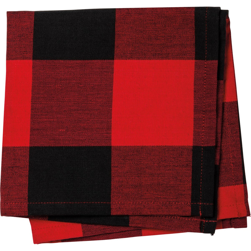 Red and Black Check Napkin