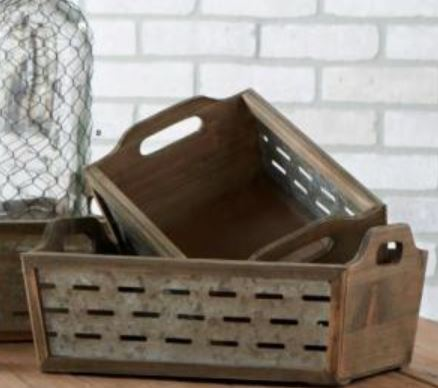 Wood & Tin Crates