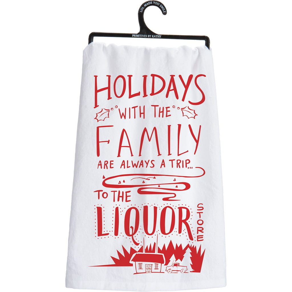 """Holidays with the Family..."" Dish Towel"