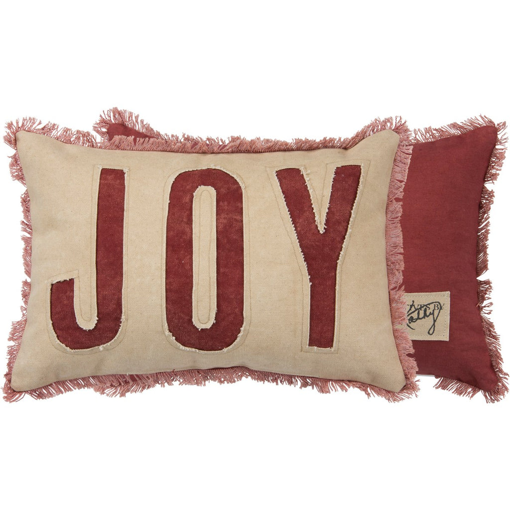 "Fringe ""JOY"" Pillow"