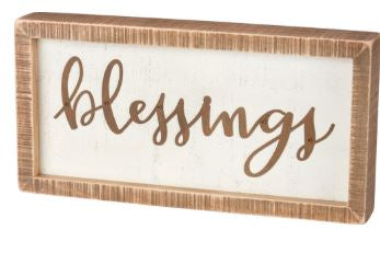 Blessings Box Sign