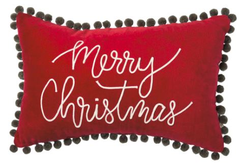 Velvet Merry Christmas Pillow
