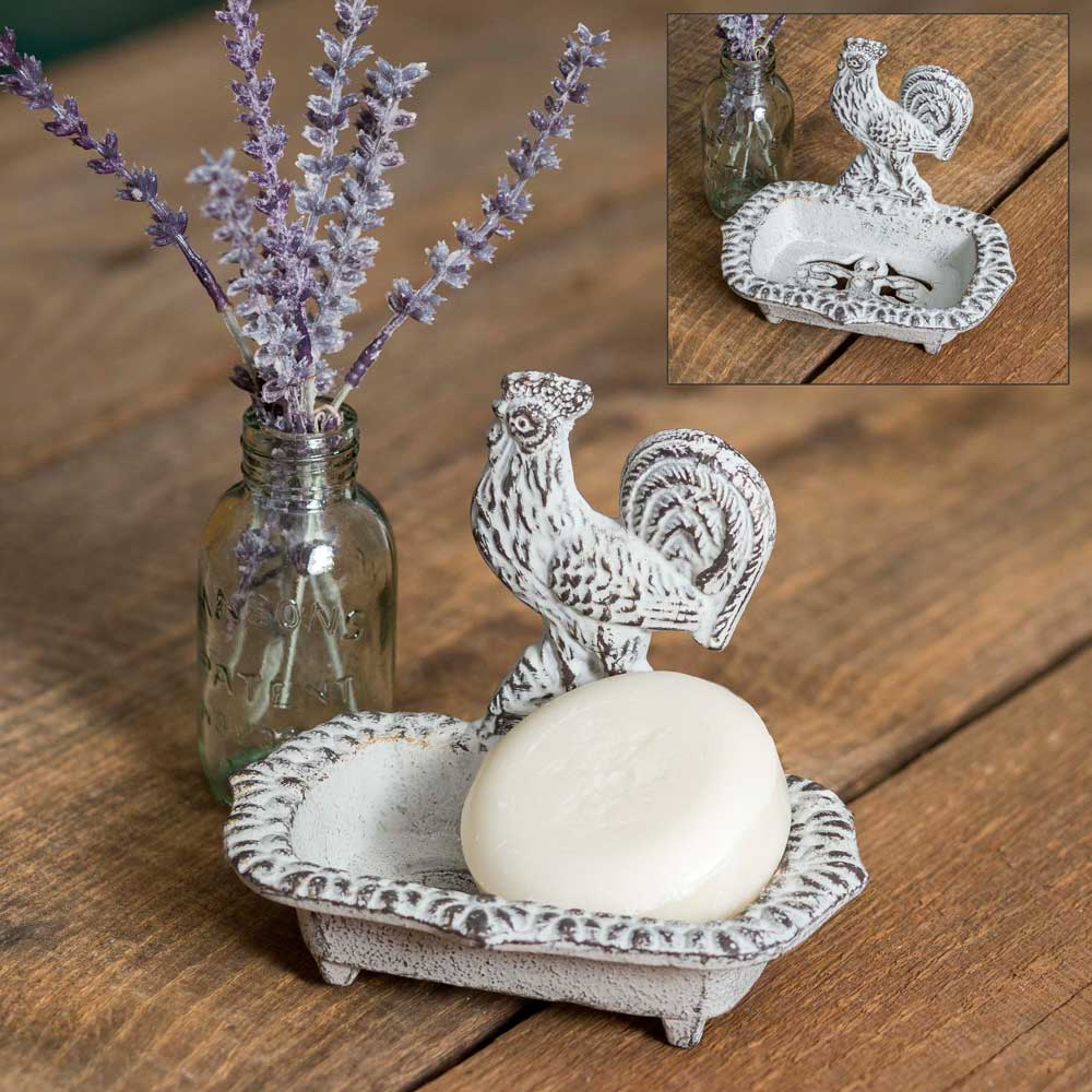 White Rooster Soap Dish