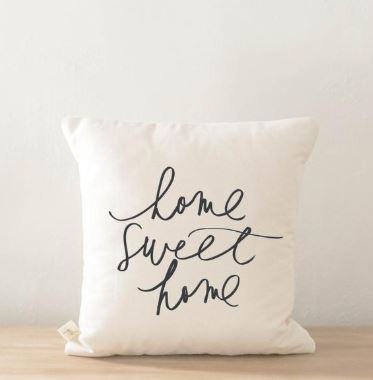 Home Sweet Home Cream Pillow